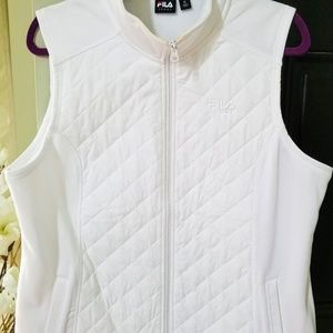White Fila winter running vest